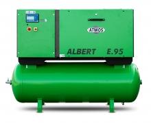 Винтовой компрессор Atmos Albert E 95-10-KRD с ресивером и осушителем
